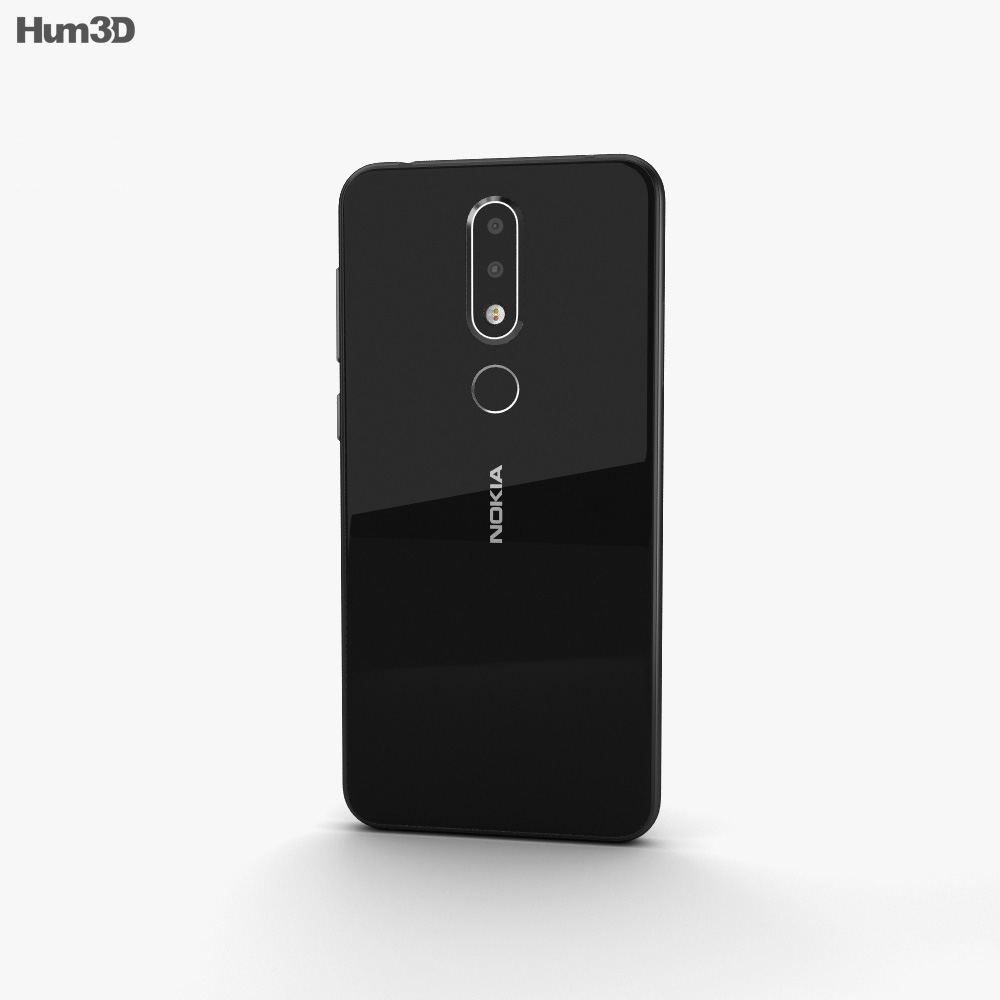 Nokia X6 Black 3d model
