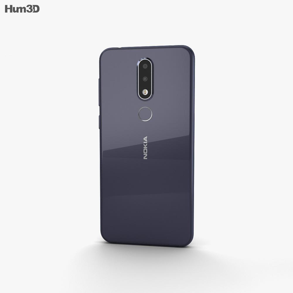 Nokia X6 Blue 3d model