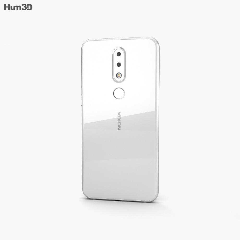 Nokia X6 White 3d model