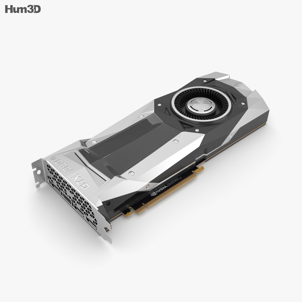 NVidia GeForce GTX 1080 TI Graphics Card 3d model