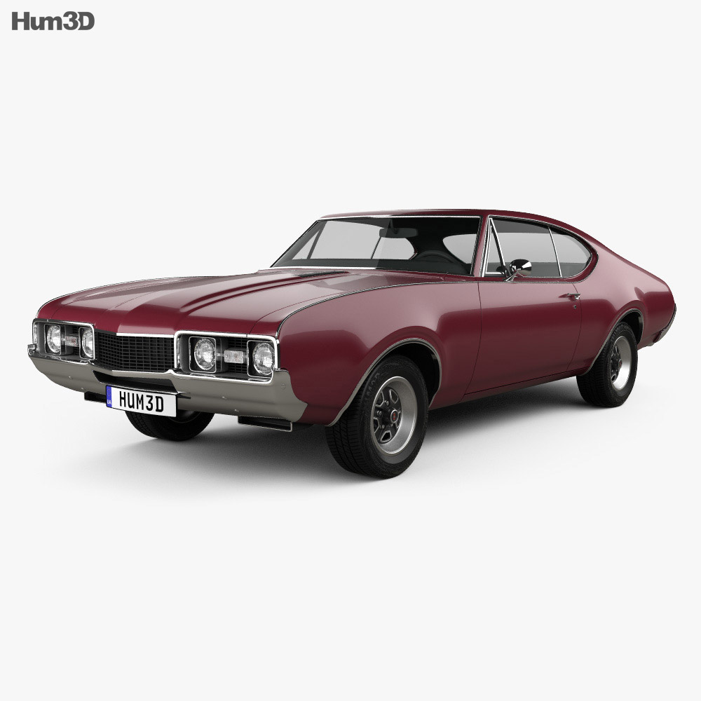 Oldsmobile Cutlass 442 (3817) Holiday coupe 1966 3d model