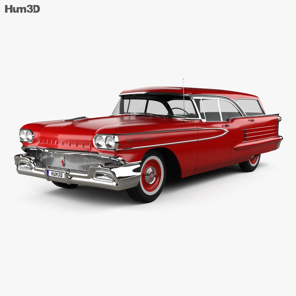 3D model of Oldsmobile Dynamic 88 Fiesta Holiday 1958