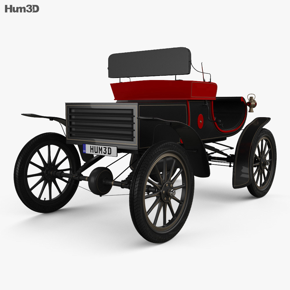 Oldsmobile Model R Curved Dash Runabout 1901 3d model