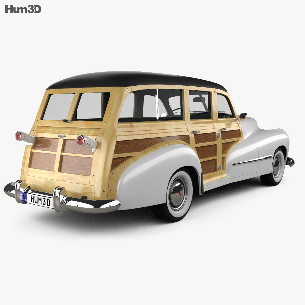 Oldsmobile Special 66/68 station wagon 1947 3d model