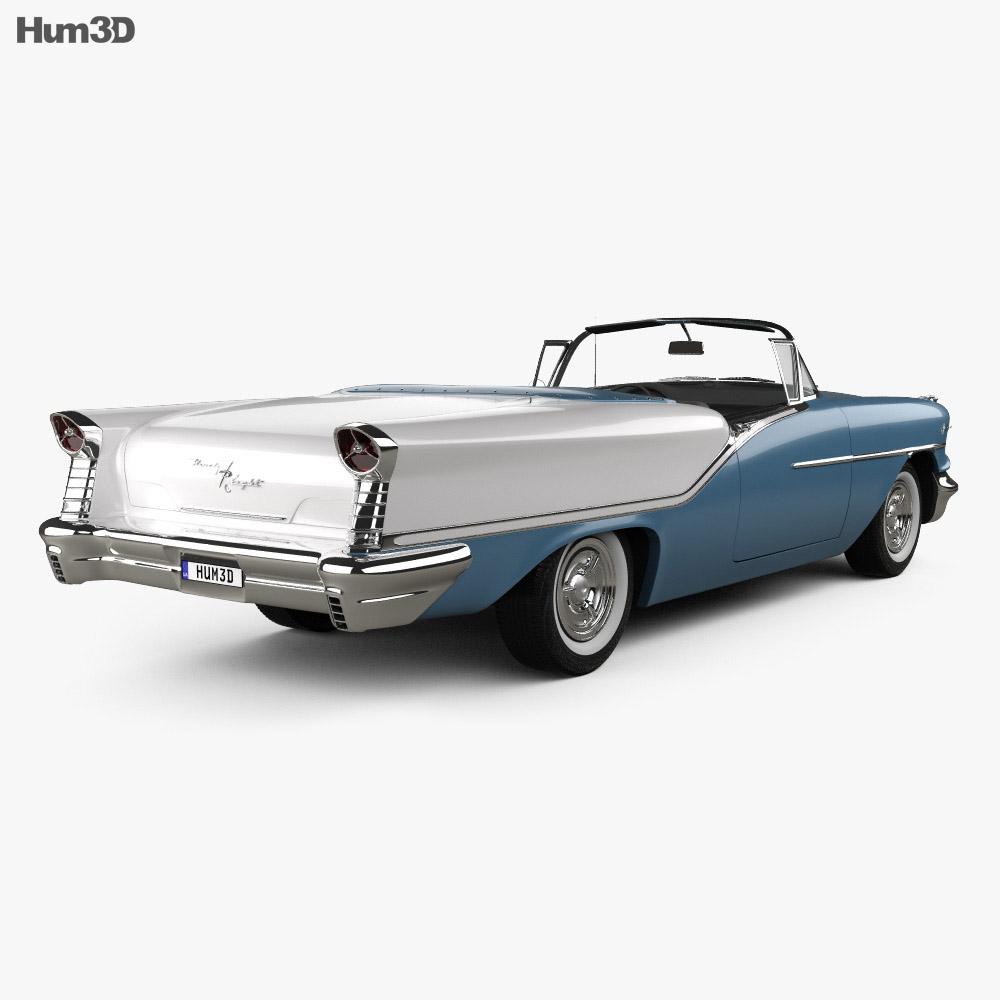 Oldsmobile Starfire 98 Convertible 1957 3d model