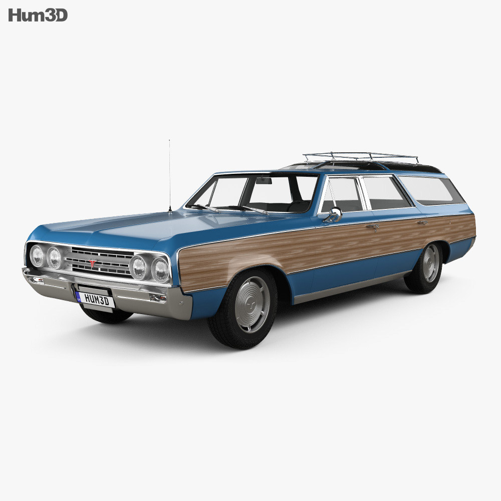 3D model of Oldsmobile Vista Cruiser 1964