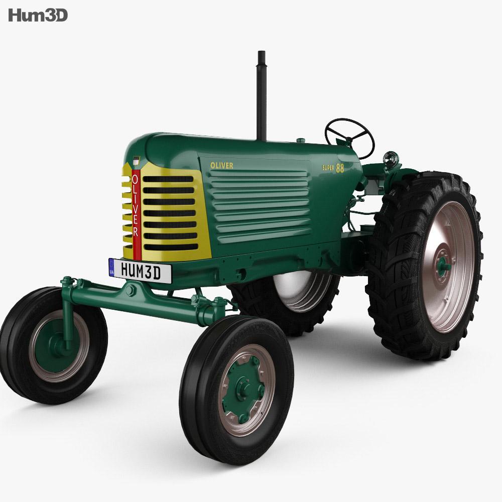 Oliver Super 88 1958 3d model