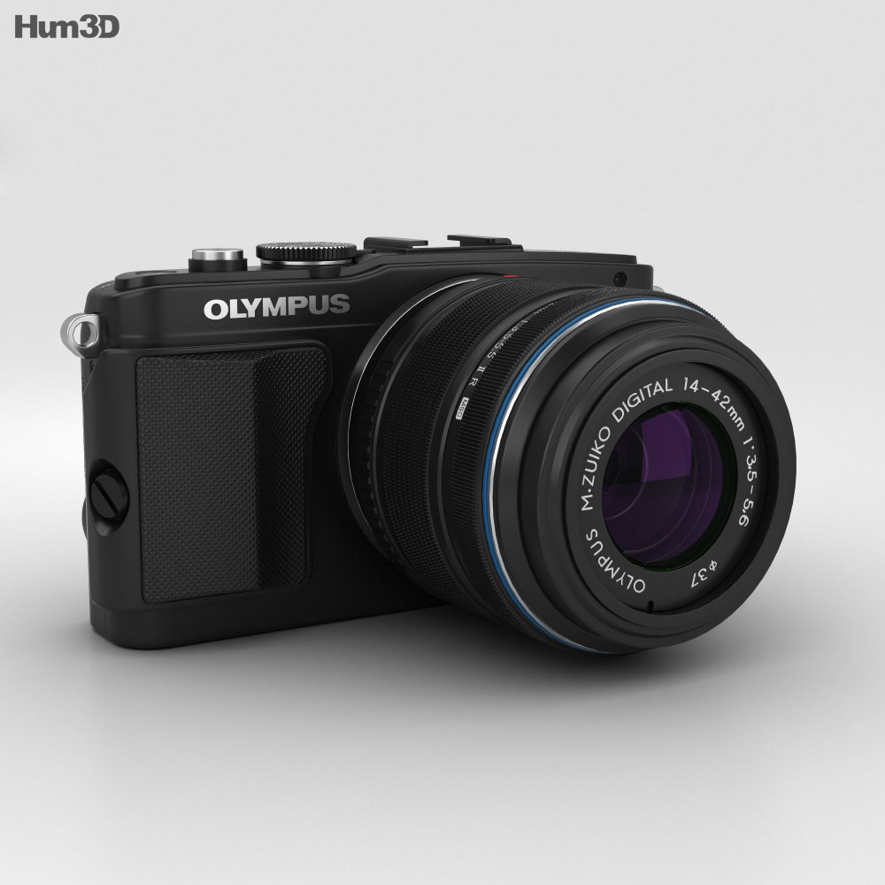 Olympus PEN E-PL5 Preto Modelo 3d