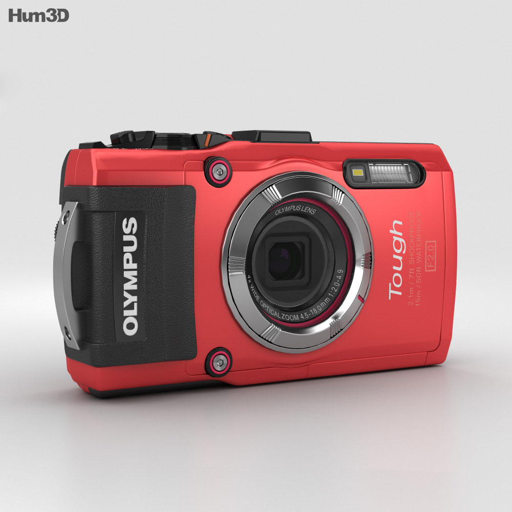 Olympus Tough TG-3 Red 3d model