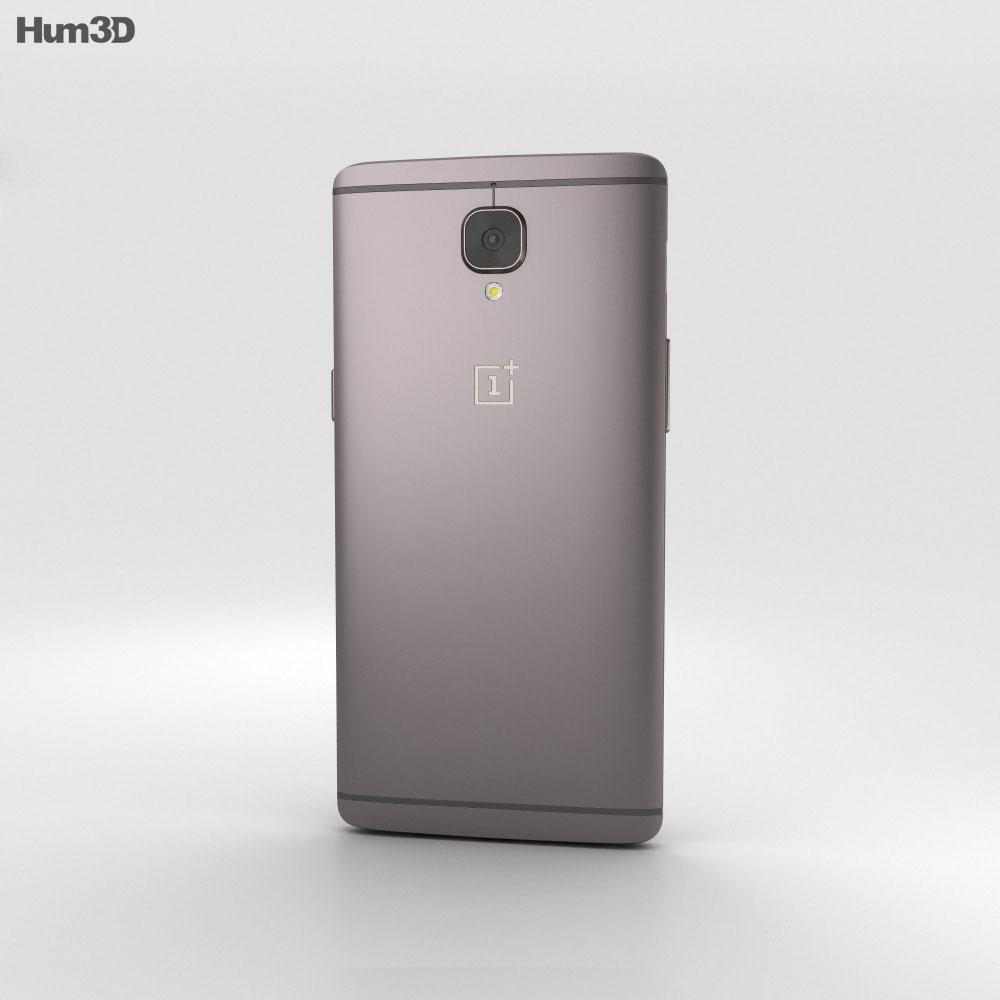 OnePlus 3T Gunmetal 3d model
