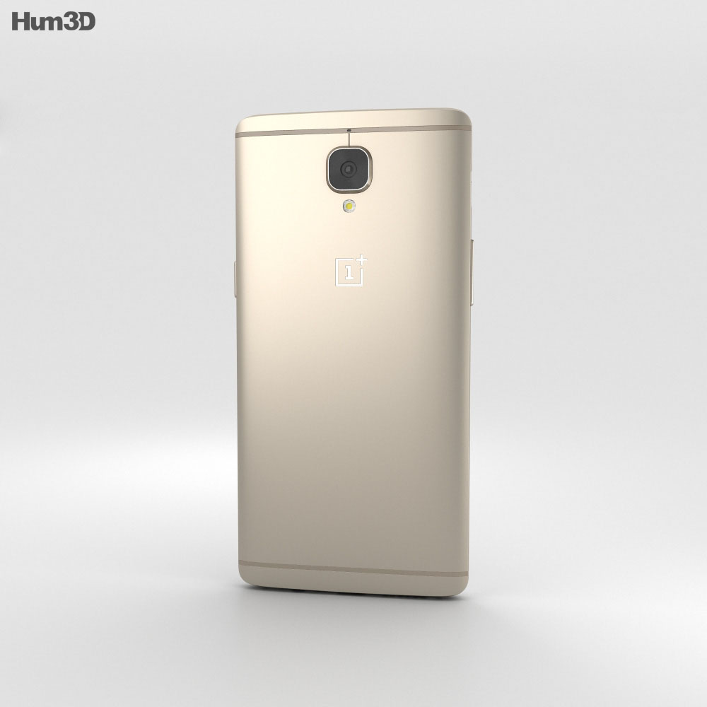 OnePlus 3 Soft Gold 3d model