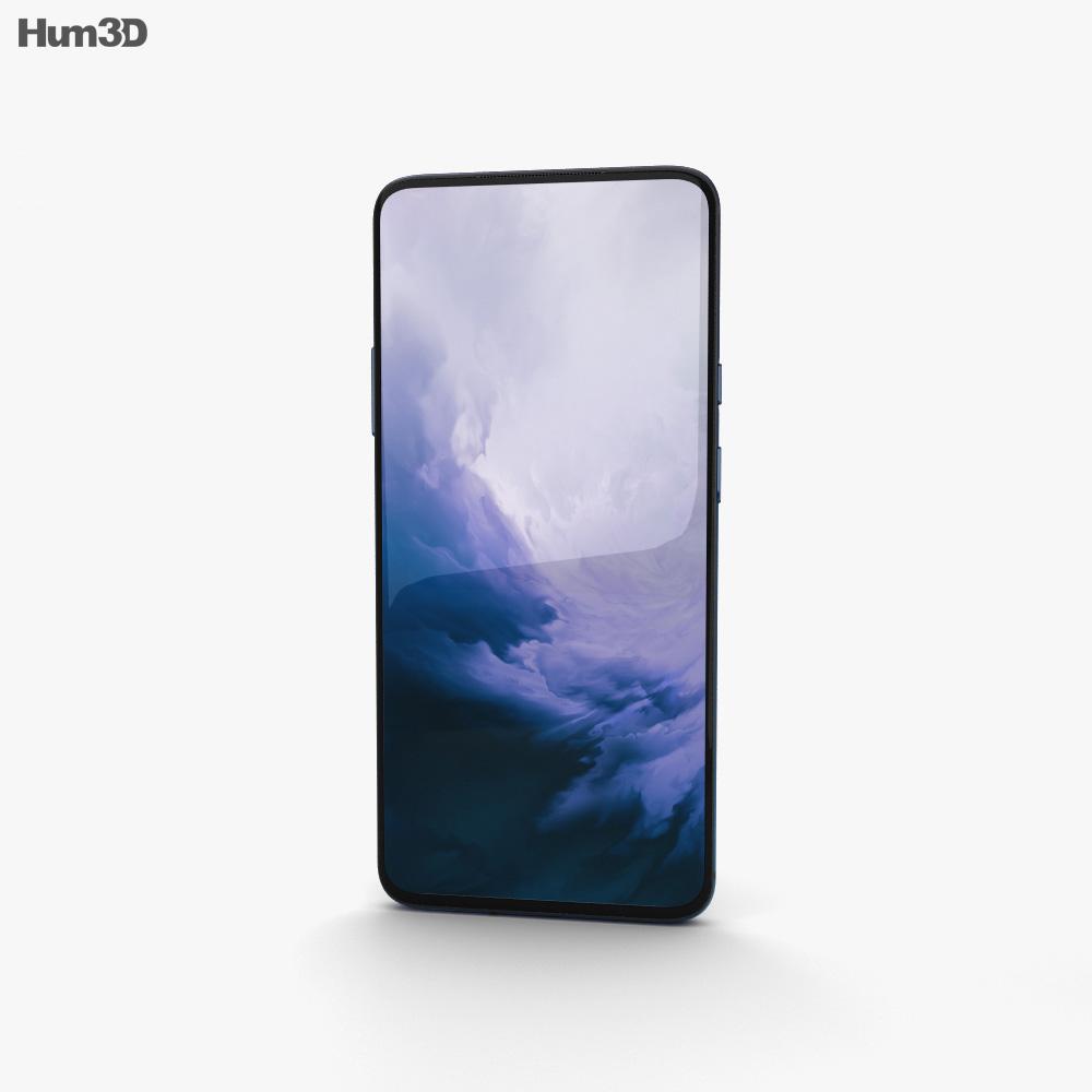 OnePlus 7 Pro Nebula Blue 3d model