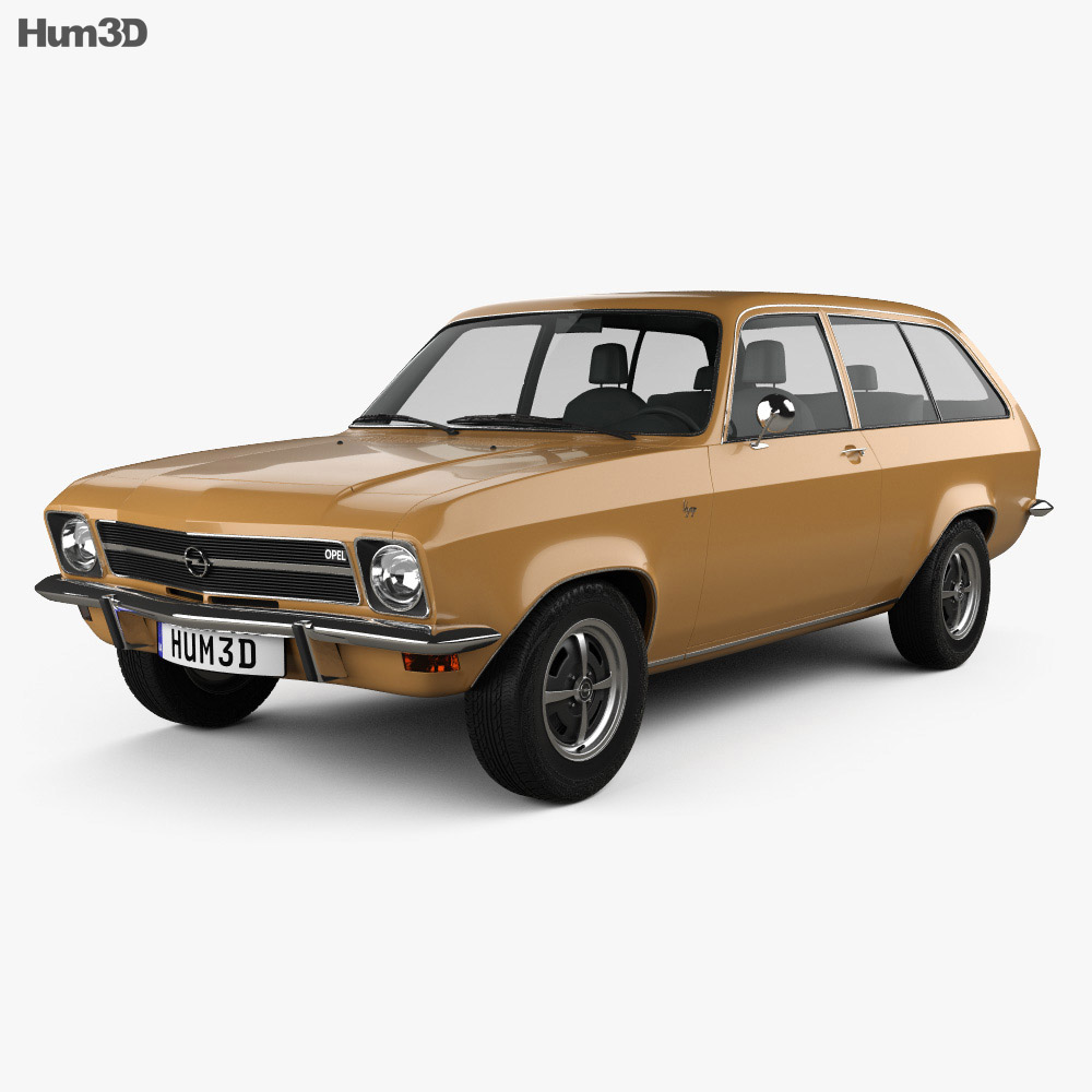 opel ascona a voyage 1970 3d model hum3d. Black Bedroom Furniture Sets. Home Design Ideas