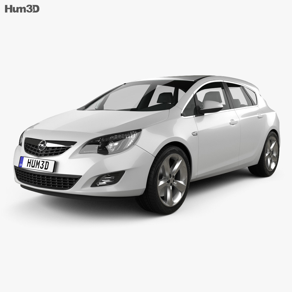 Opel Astra J 2011 3d model