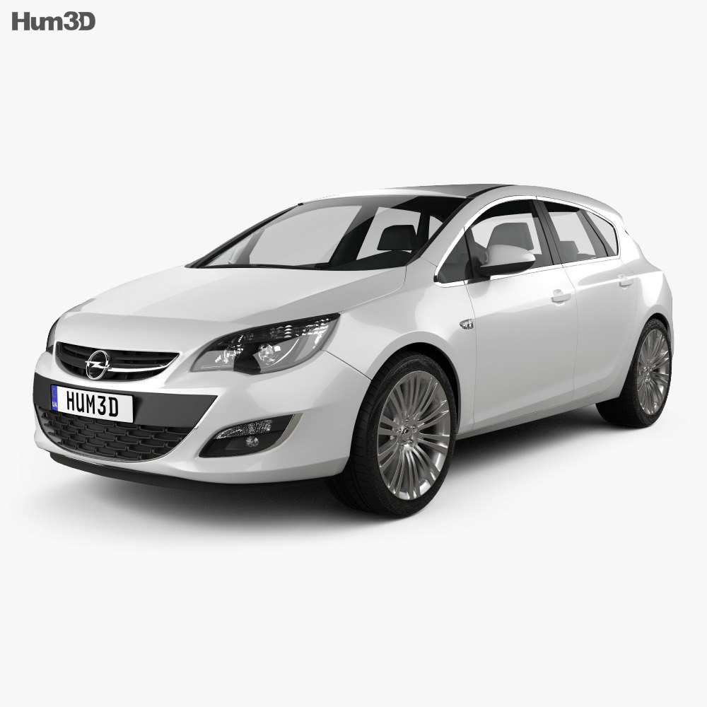 Opel Astra J hatchback 5-door 2012 3d model