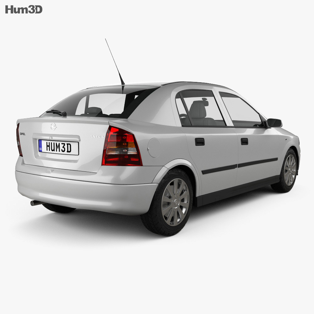 Opel Astra G liftback 1998 3d model