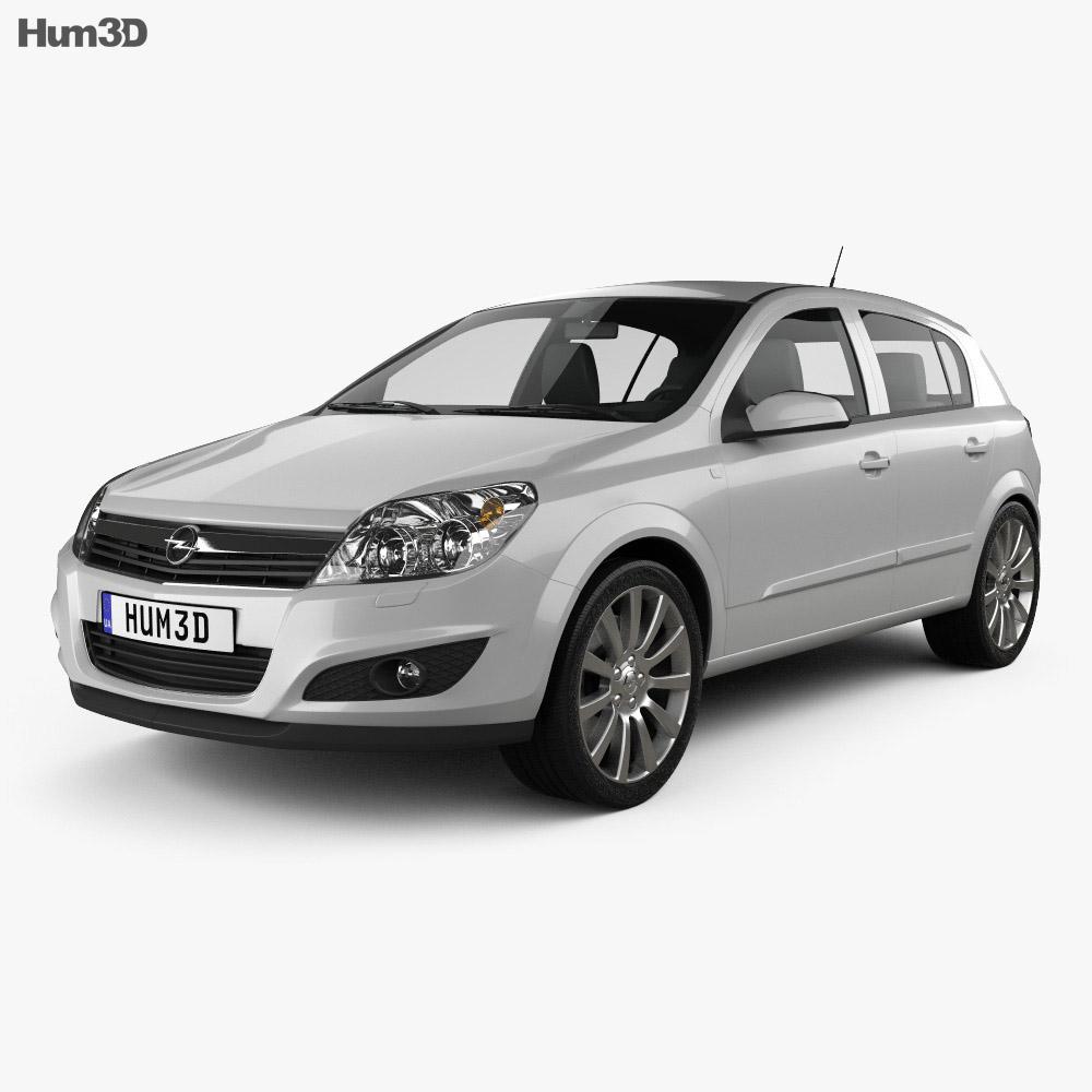 Opel Astra hatchback 2007 3d model