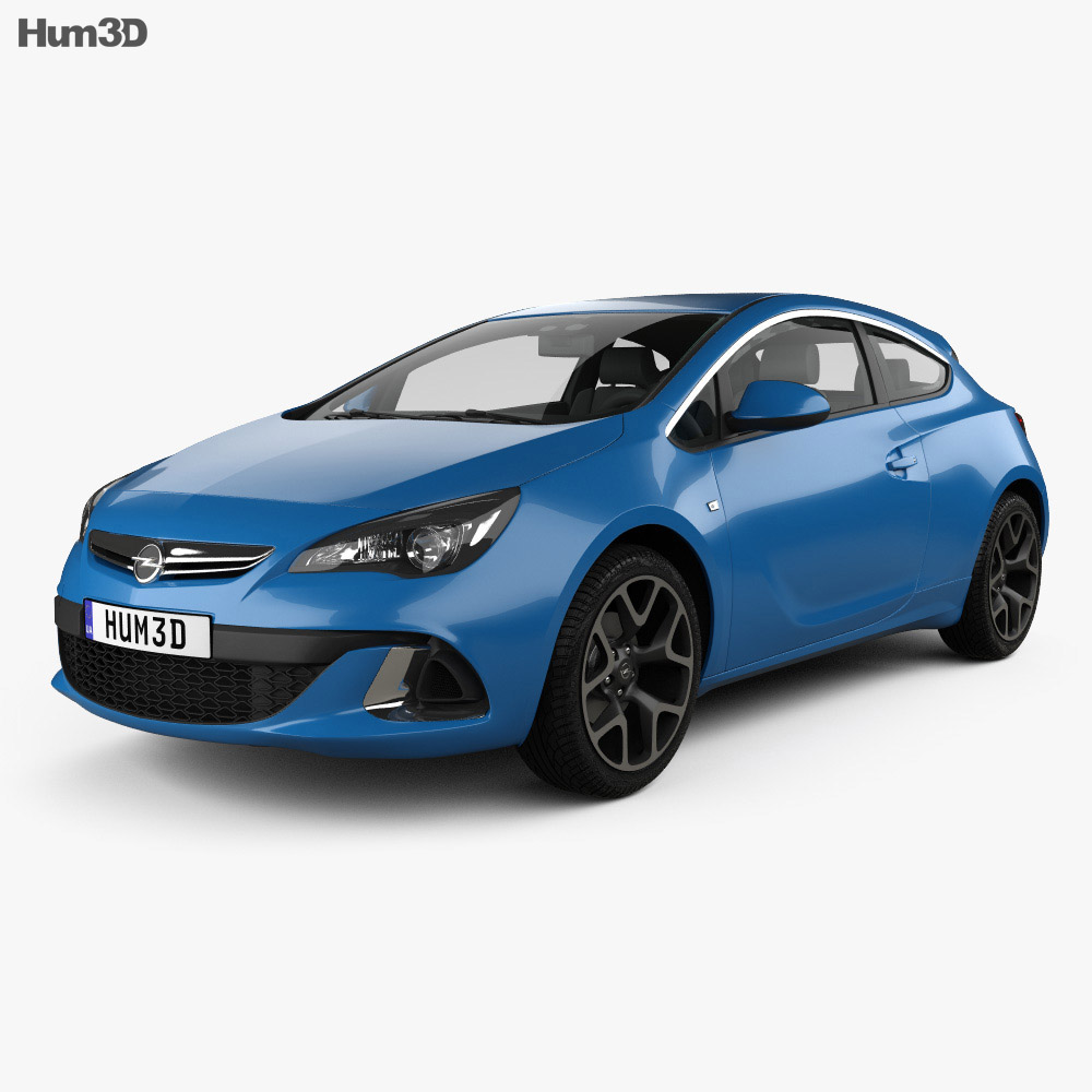 Masywnie Opel Astra J OPC 2011 3D model - Vehicles on Hum3D DZ09