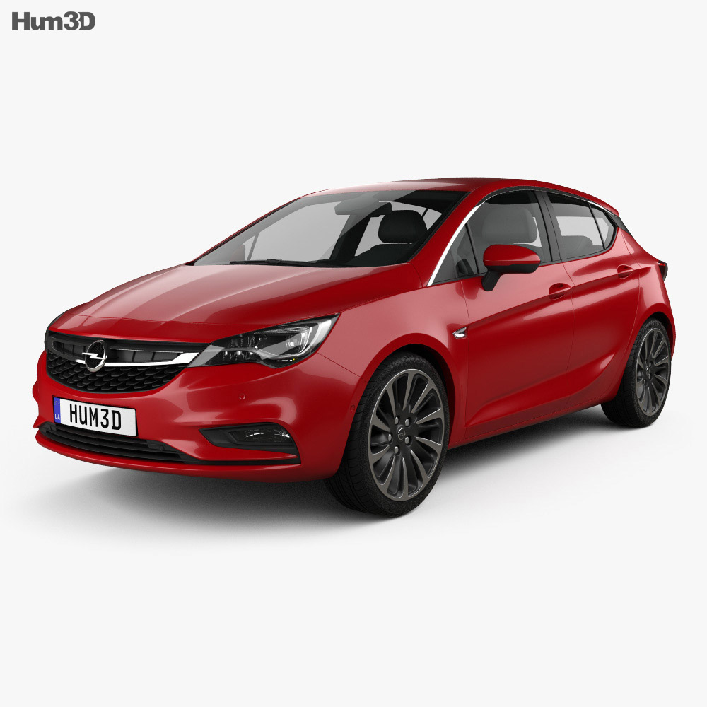 Opel Astra K 2016 3d model