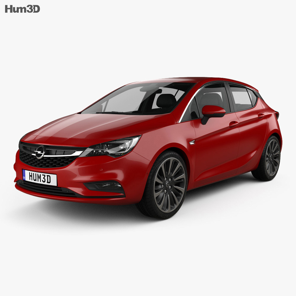 opel astra k with hq interior 2016 3d model hum3d. Black Bedroom Furniture Sets. Home Design Ideas