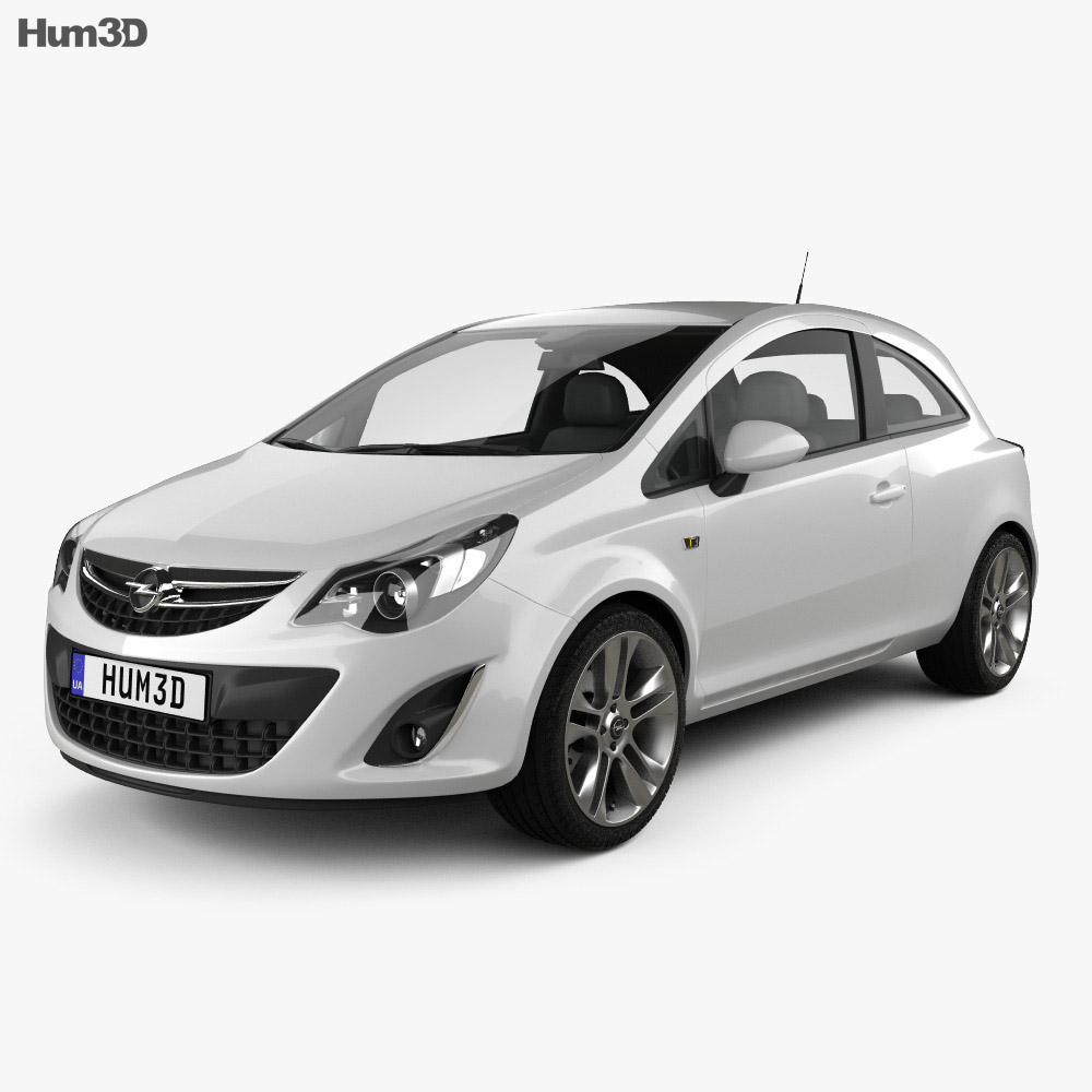 Opel Corsa 3-door 2011 3d model