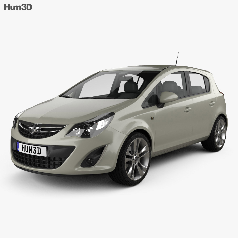 Opel Corsa D 5-door 2011 3d model