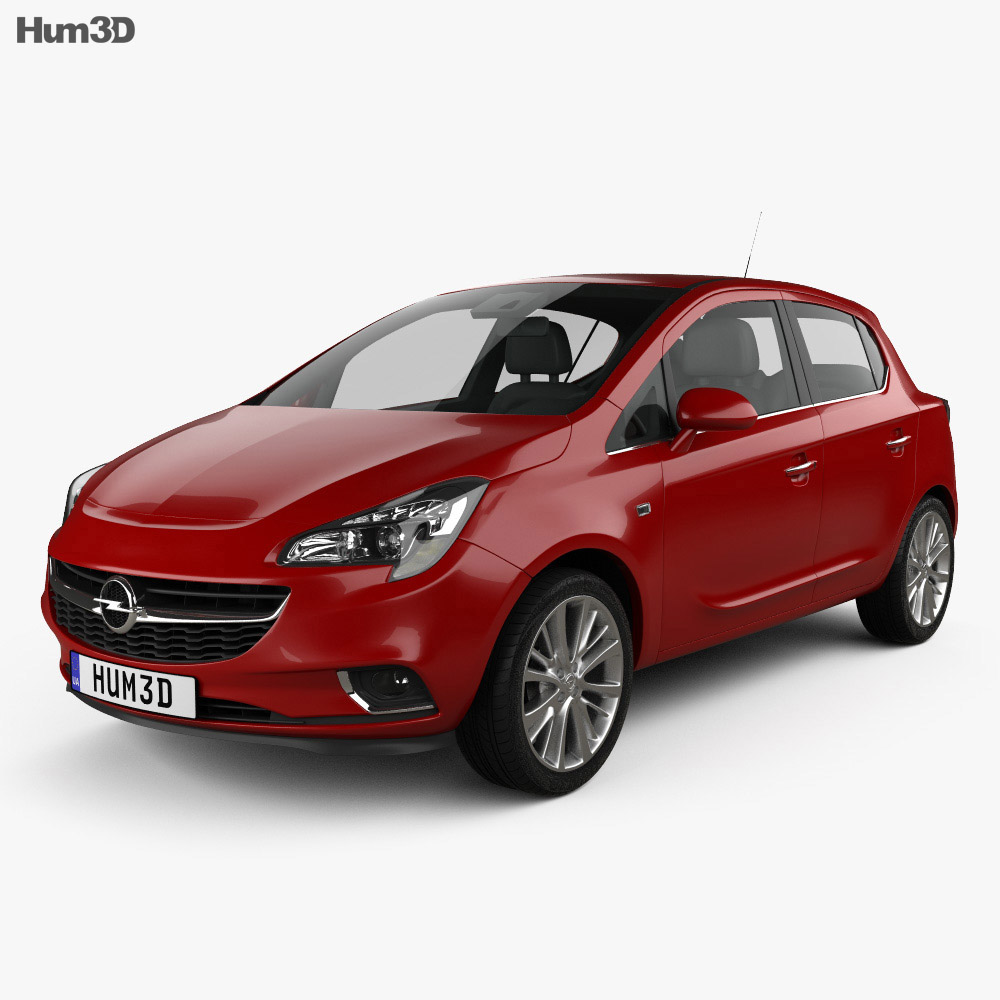 Opel Corsa (E) 5-door 2014 3d model