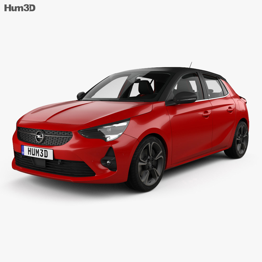 Opel Corsa with HQ interior 2020 3d model