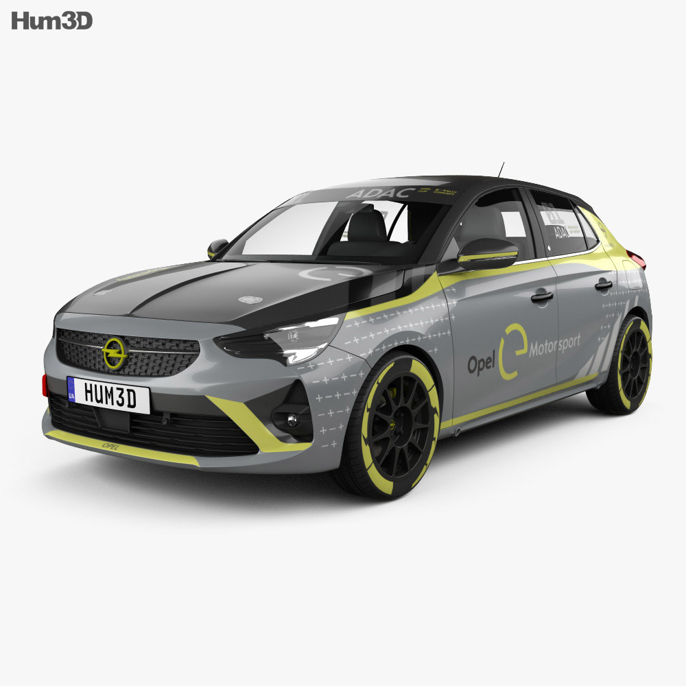 Opel Corsa e-Rally 2020 3d model