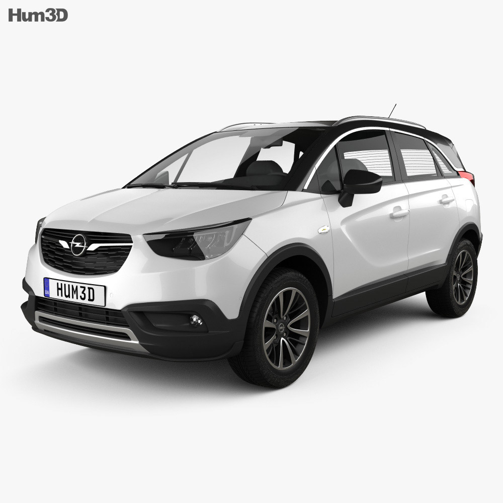 Opel Crossland X Turbo 2017 3d model