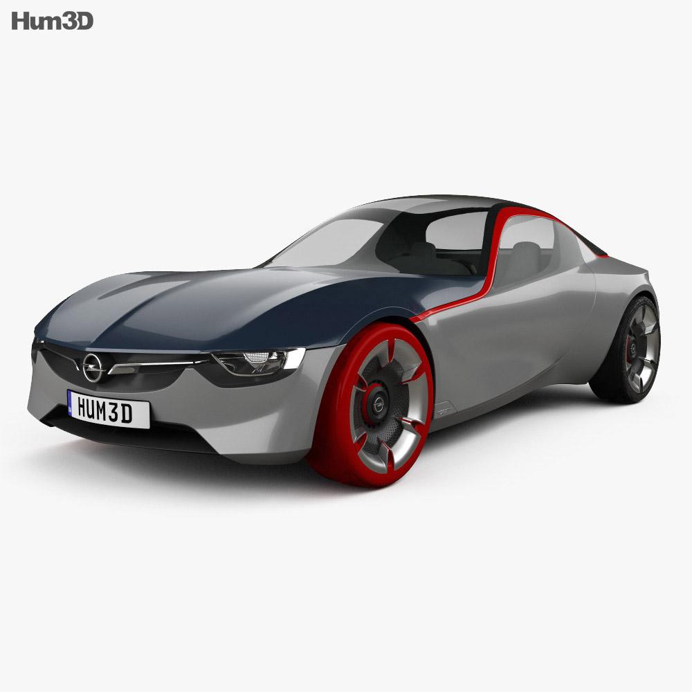 Opel GT 2016 3d model