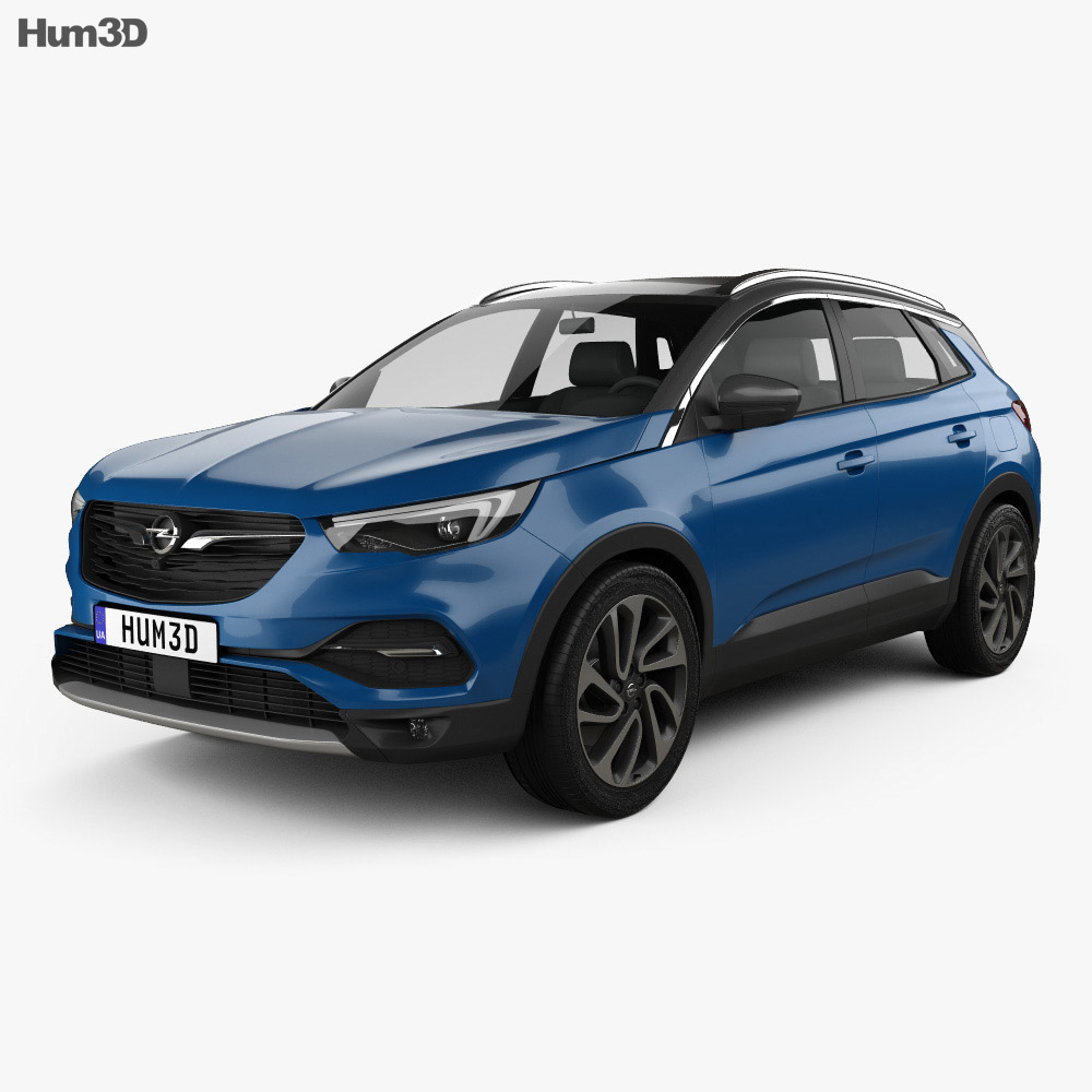 opel grandland x 2017 3d model vehicles on hum3d. Black Bedroom Furniture Sets. Home Design Ideas