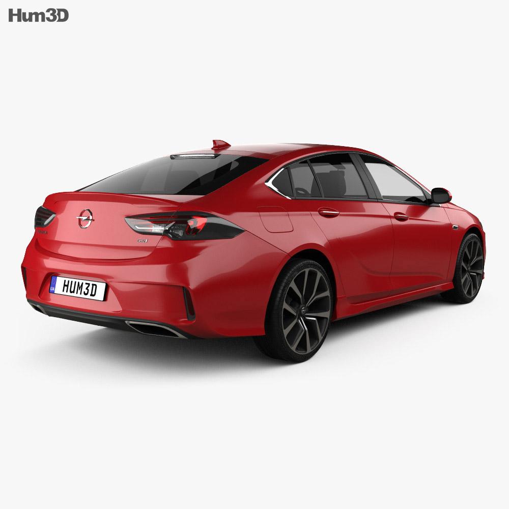 Opel Insignia GSi 2017 3d model