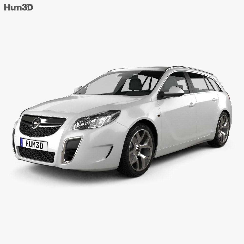 Opel Insignia OPC Sports Tourer 2012 3d model