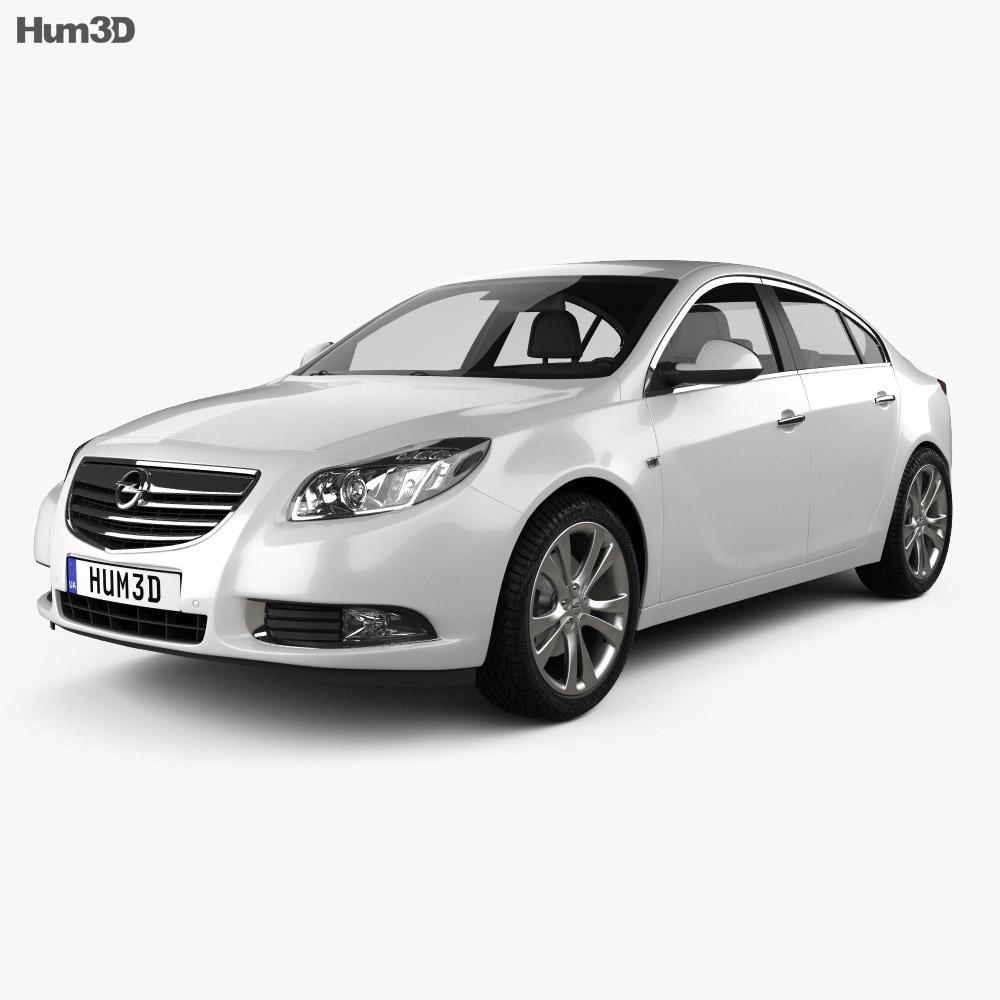 Opel Insignia hatchback 2012 3d model