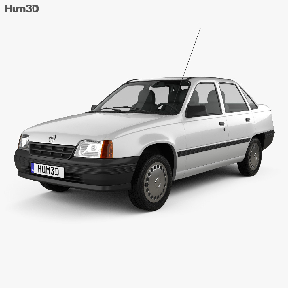 Opel Kadett E Sedan 1984-1991 3d model