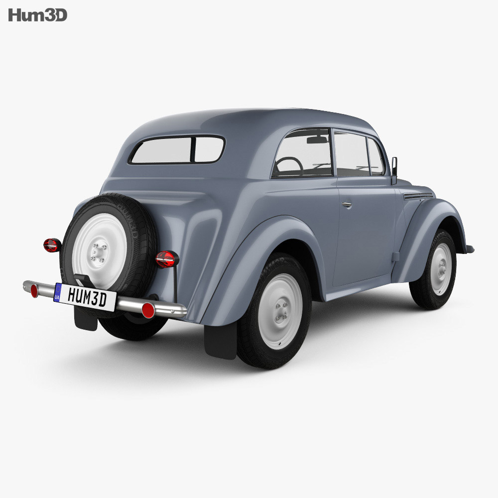 Opel Kadett 2-door sedan 1938 3d model