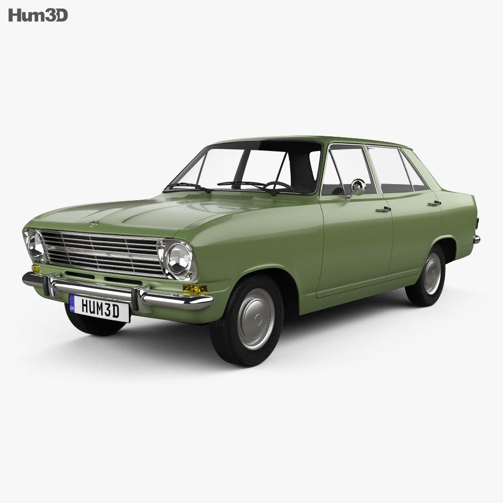 Opel Kadett 4-door sedan 1965 3d model