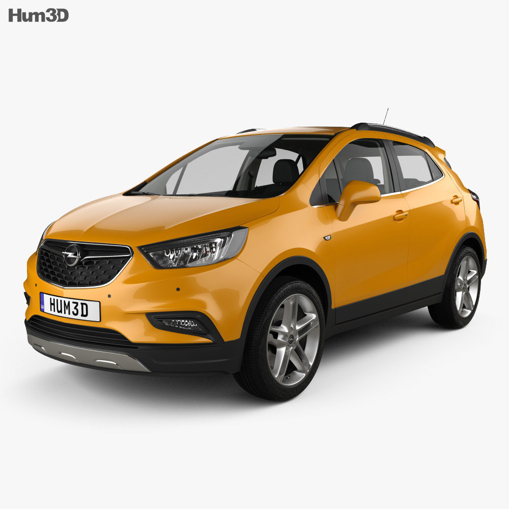 opel mokka x with hq interior 2017 3d model vehicles on. Black Bedroom Furniture Sets. Home Design Ideas