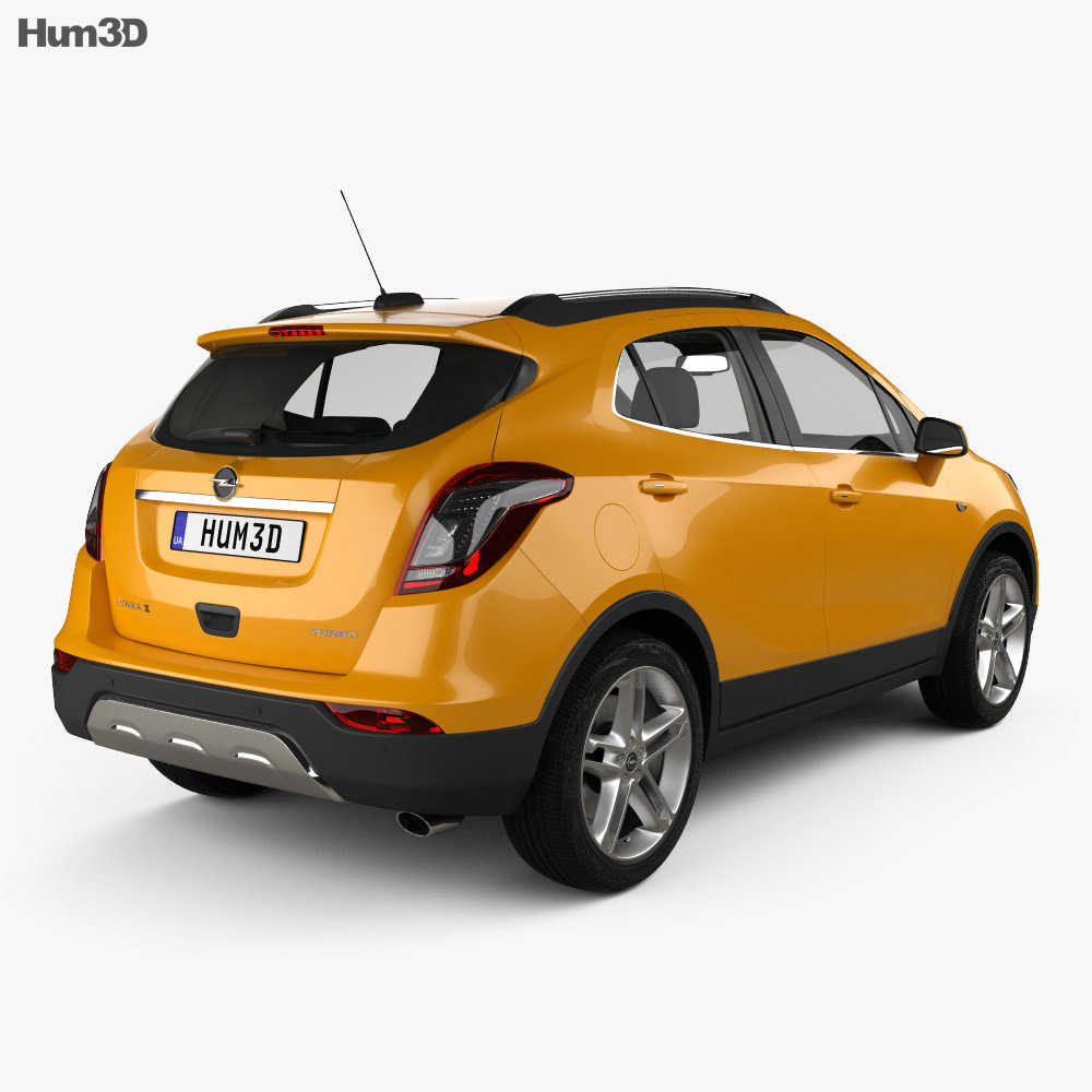 opel mokka x with hq interior 2017 3d model vehicles on hum3d. Black Bedroom Furniture Sets. Home Design Ideas