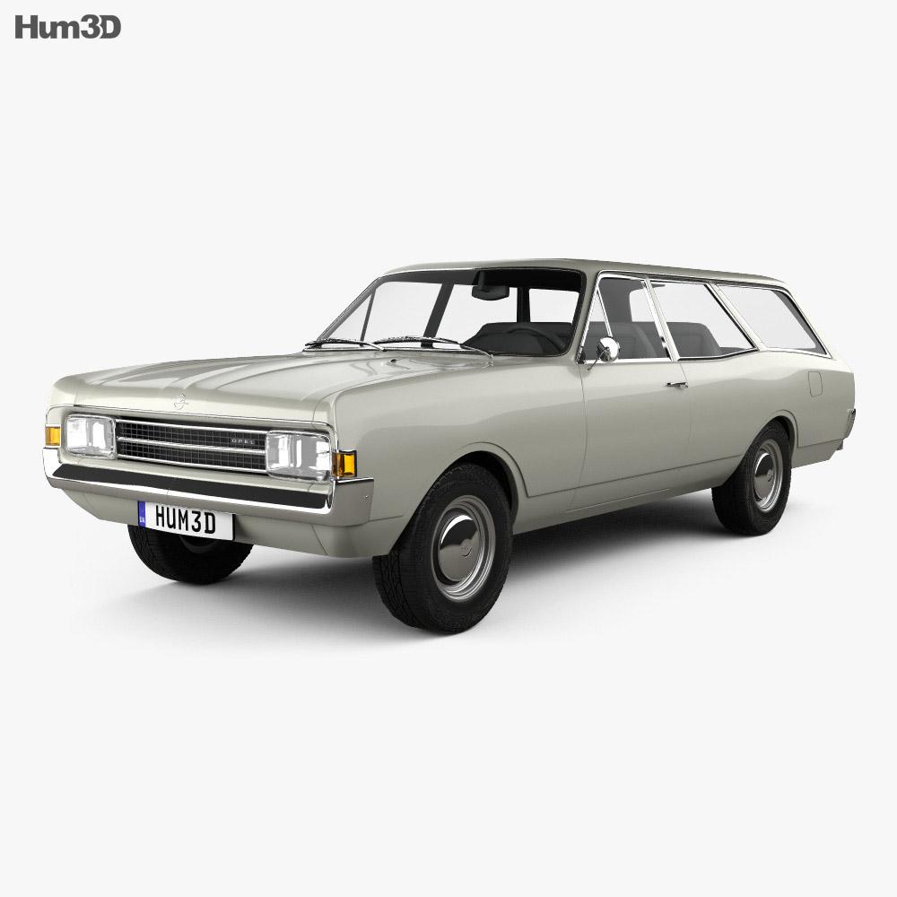 Opel Rekord (C) Caravan 1967 3D model  Humster3D