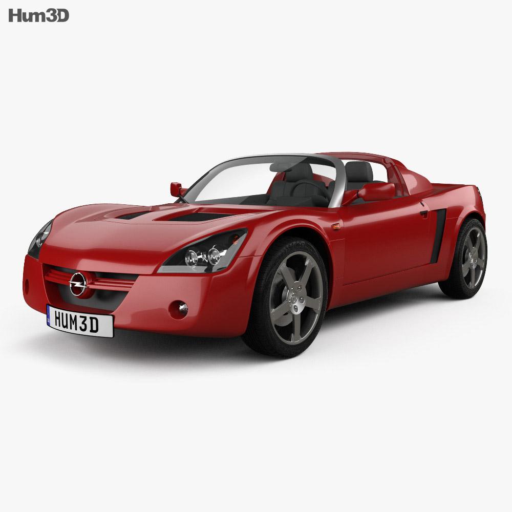 opel speedster 2000 3d model hum3d. Black Bedroom Furniture Sets. Home Design Ideas
