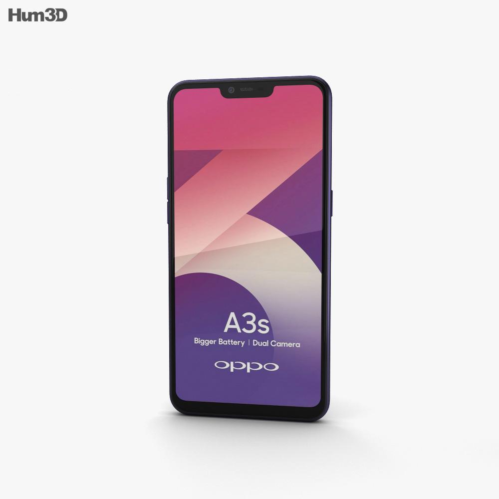 Oppo A3s Dark Purple 3d model