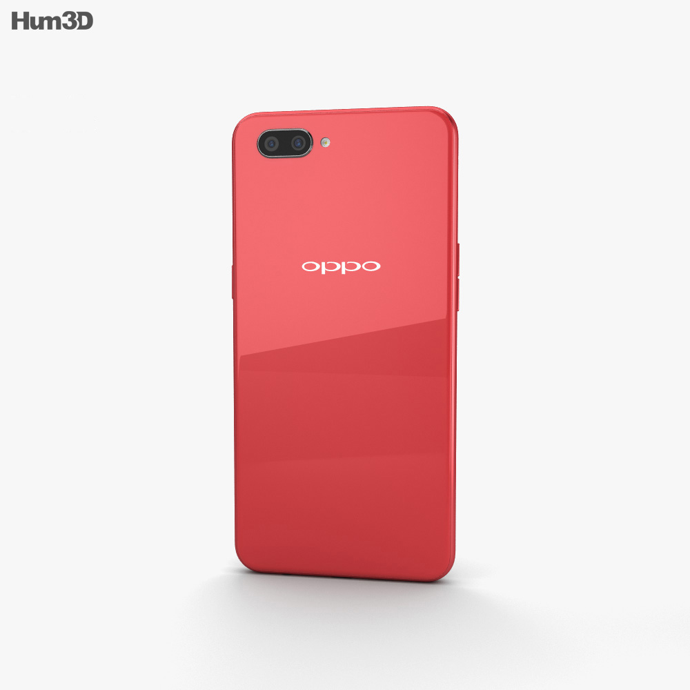 Oppo A3s Red 3d model