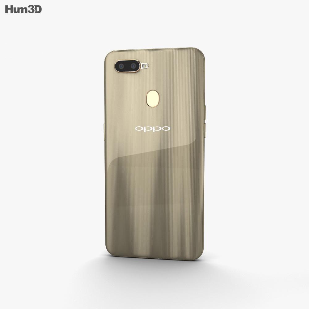 Oppo A7 Glaring Gold 3d model
