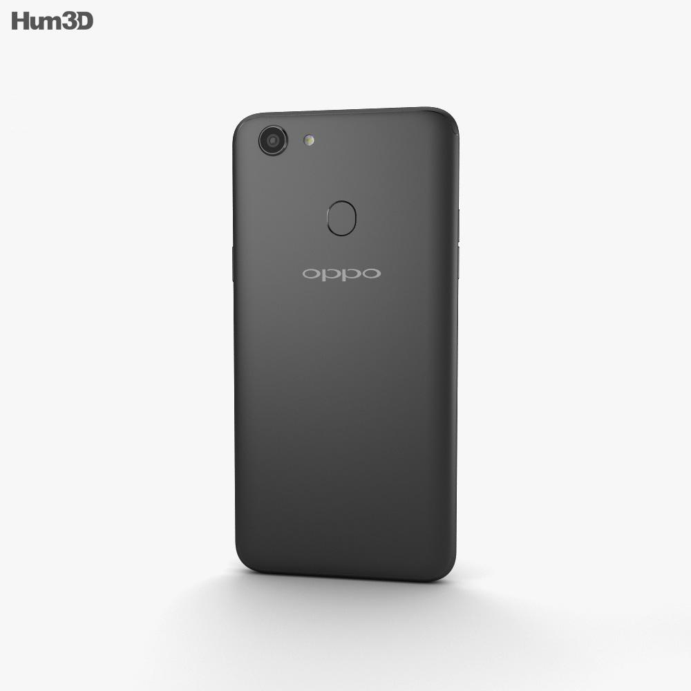 Oppo F5 Black 3d model