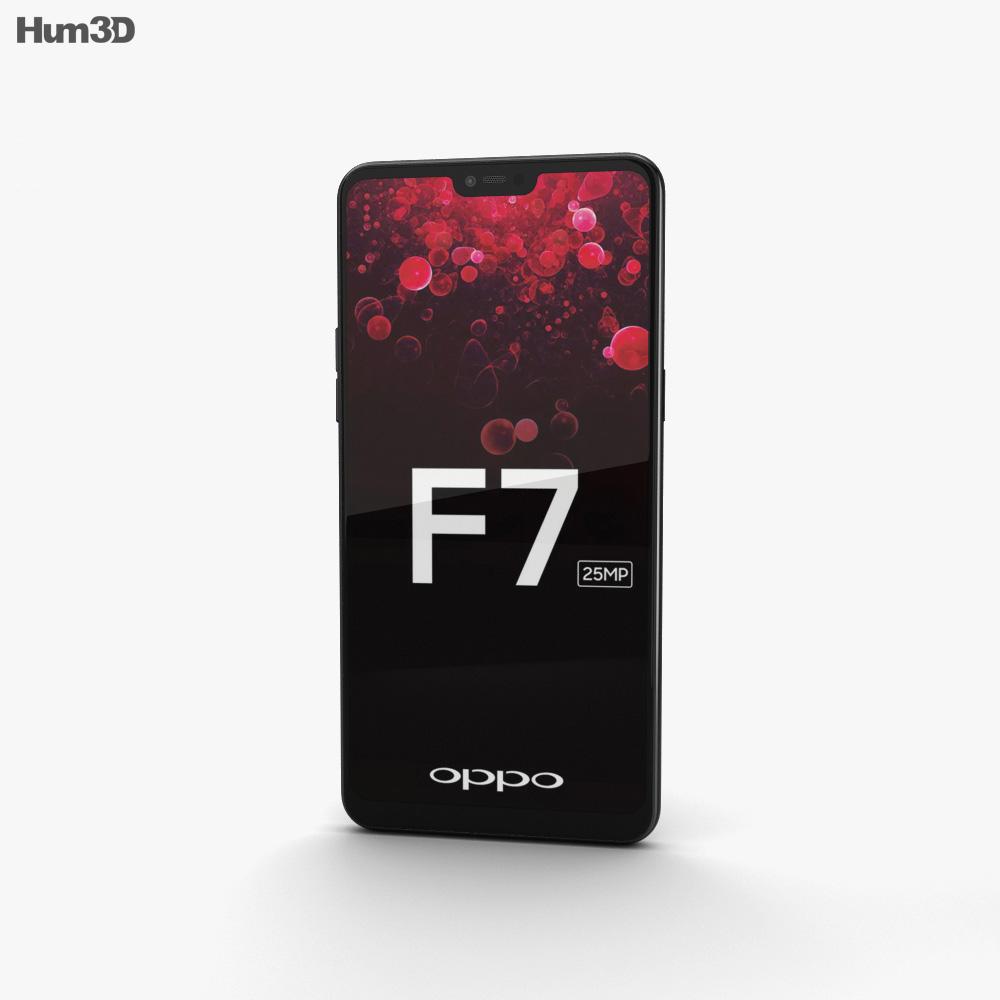 Oppo F7 Diamond Black 3d model