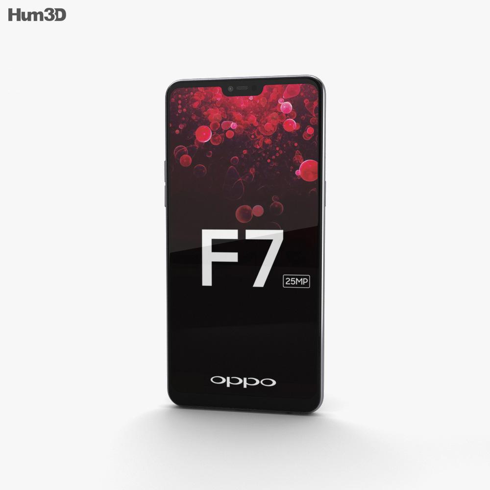 Oppo F7 Moonlight Silver 3d model