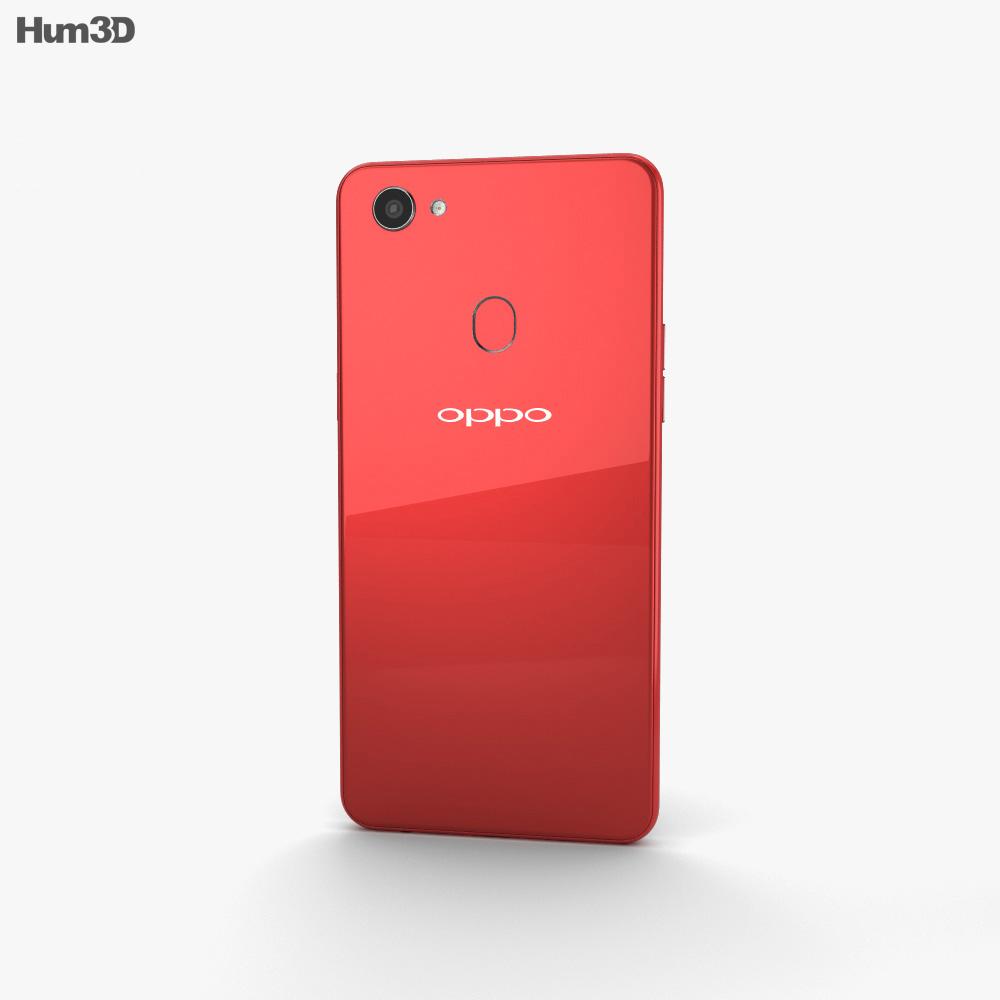 Oppo F7 Solar Red 3d model