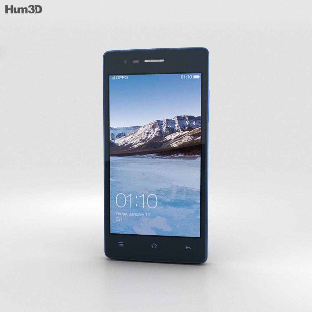 Oppo Neo 5 Blue 3d model